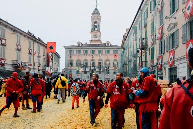 Town square Ivrea Italy