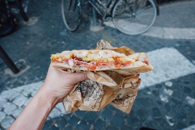best panino in rome forno campo de fiori