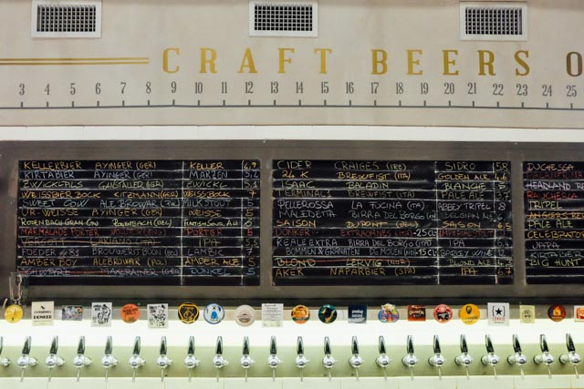 craft beer on draft in Rome