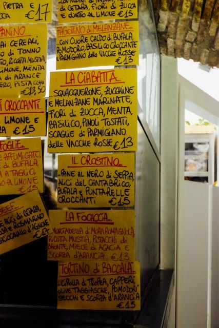 menu pianostrada rome