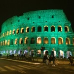 Green colosseum for St. Patrick's Day