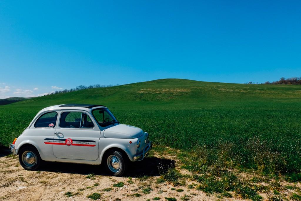 vintage cinquecento in Tuscany