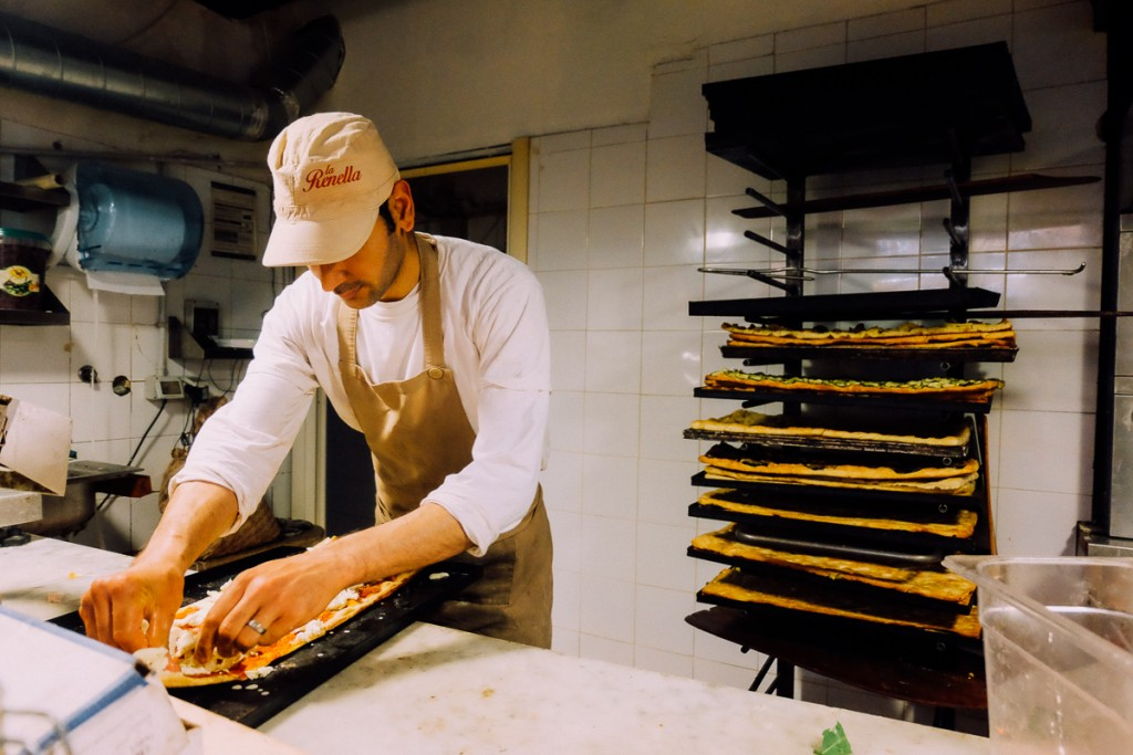 Pizza maker in Rome