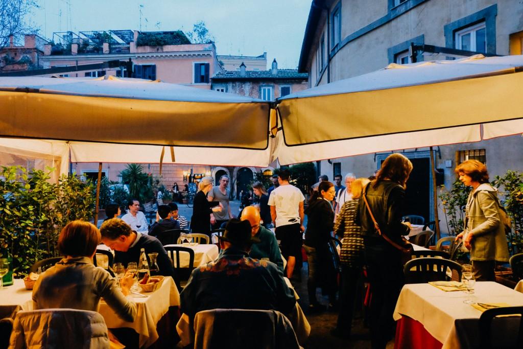 Trastevere restaurant in Rome
