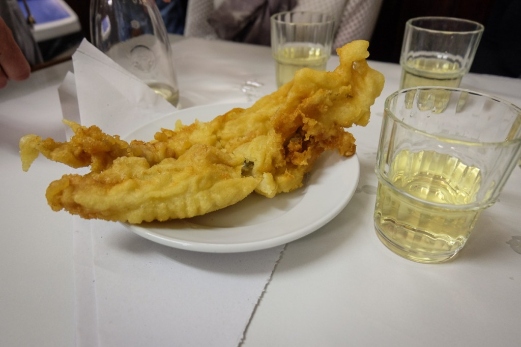 fried fish in Rome