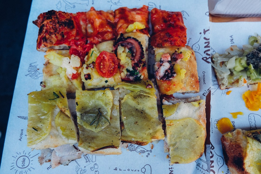 best pizza in Rome is pizza by the slice