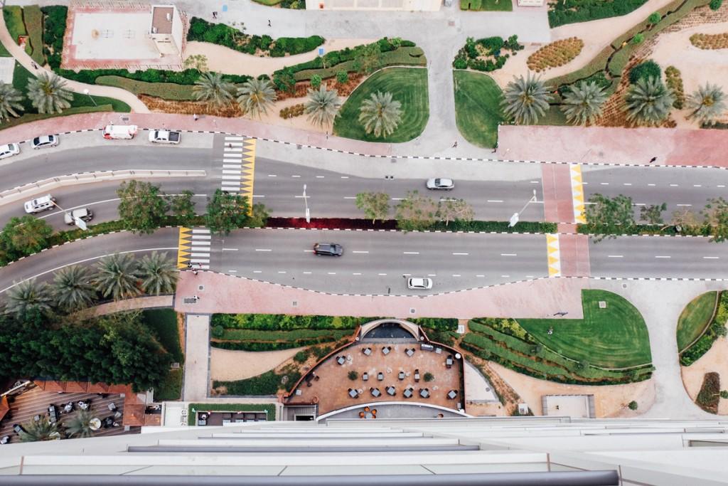 Looking down in Dubai