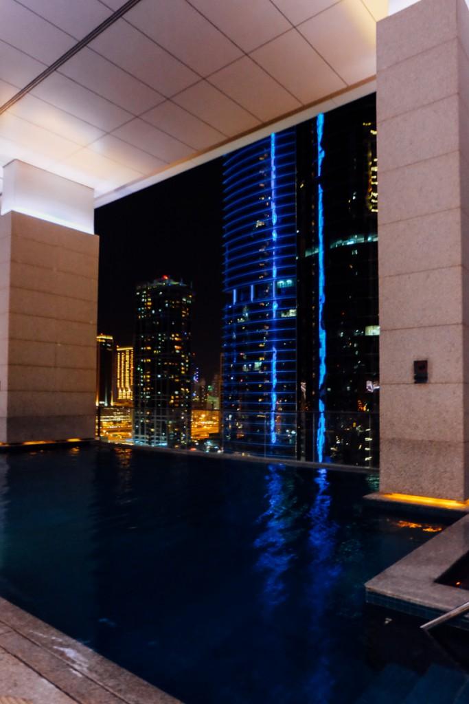 Dubai night swim