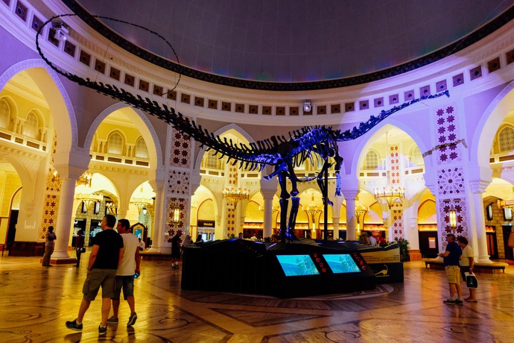 Dubai mall with dinosaur