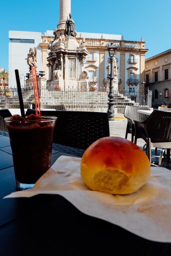 Palermo granita brioche
