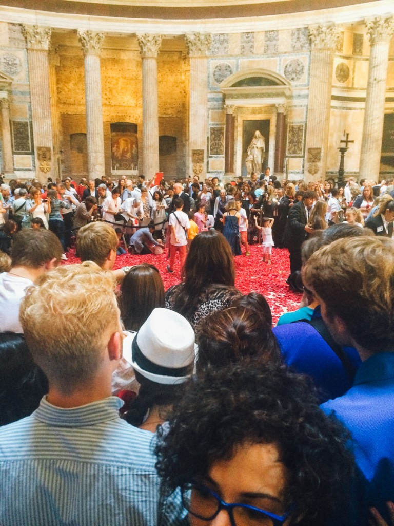 Raining Rose Petals at the Pantheon - An American in Rome