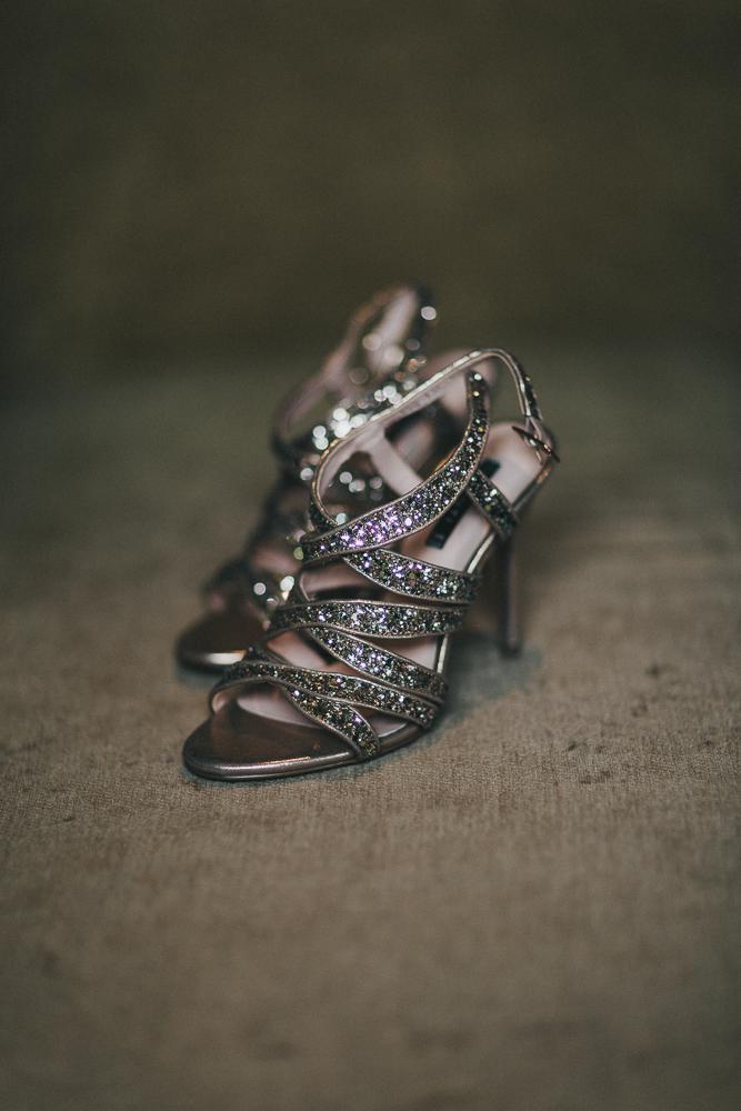 Gold Italian shoes