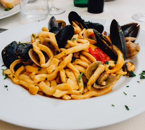 Amalfi Italy seafood lunch
