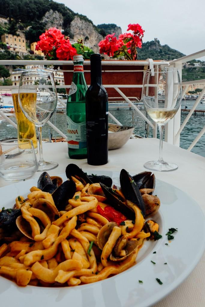 Amalfi Italy lunch