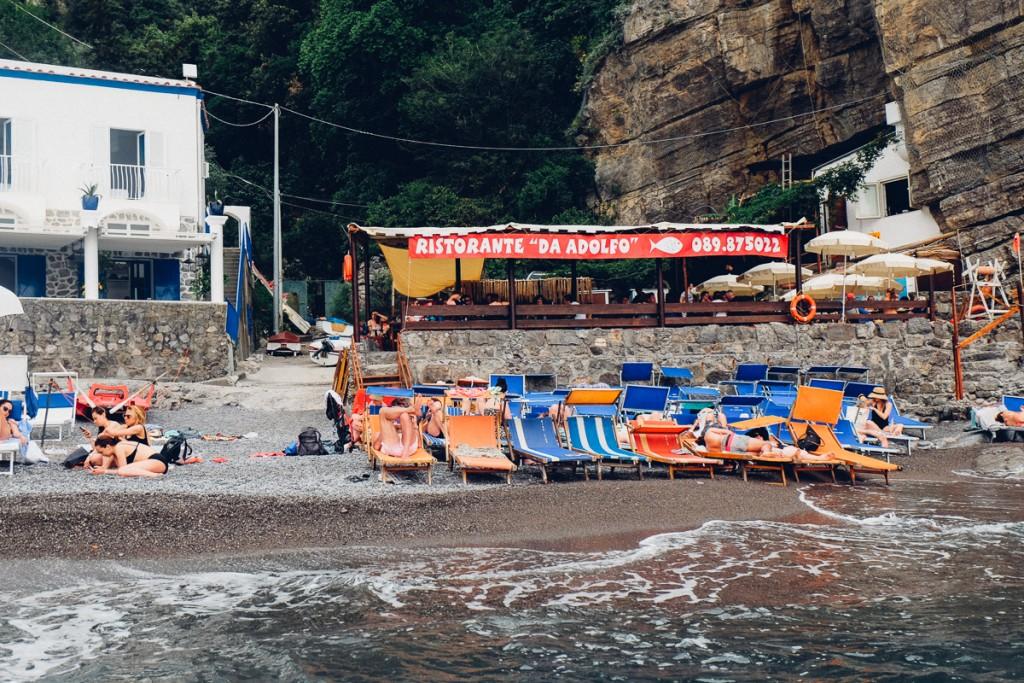 Positano Italy beach restaurant