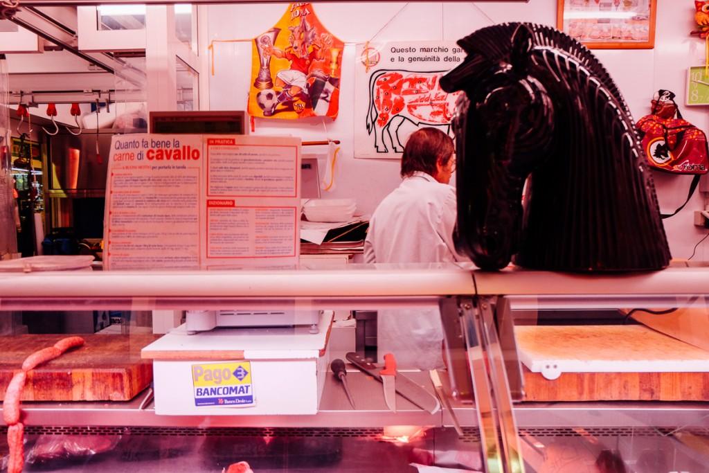 Mercato Testaccio horse meat butcher