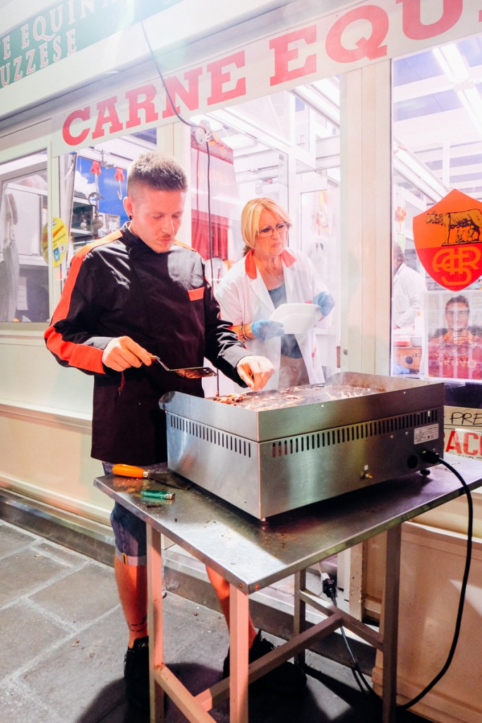 Mercato Testaccio Open Day food stall