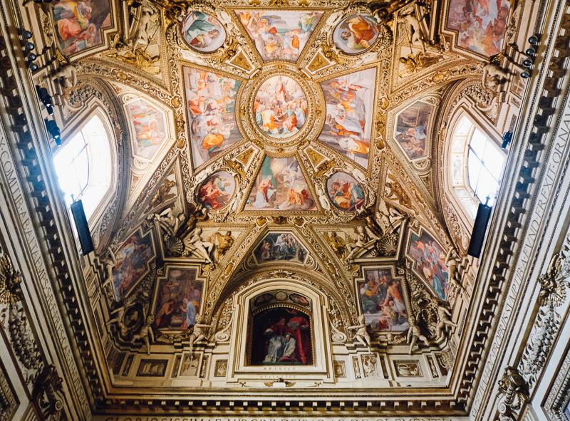 Rome church fresco