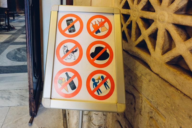 no ice cream in church
