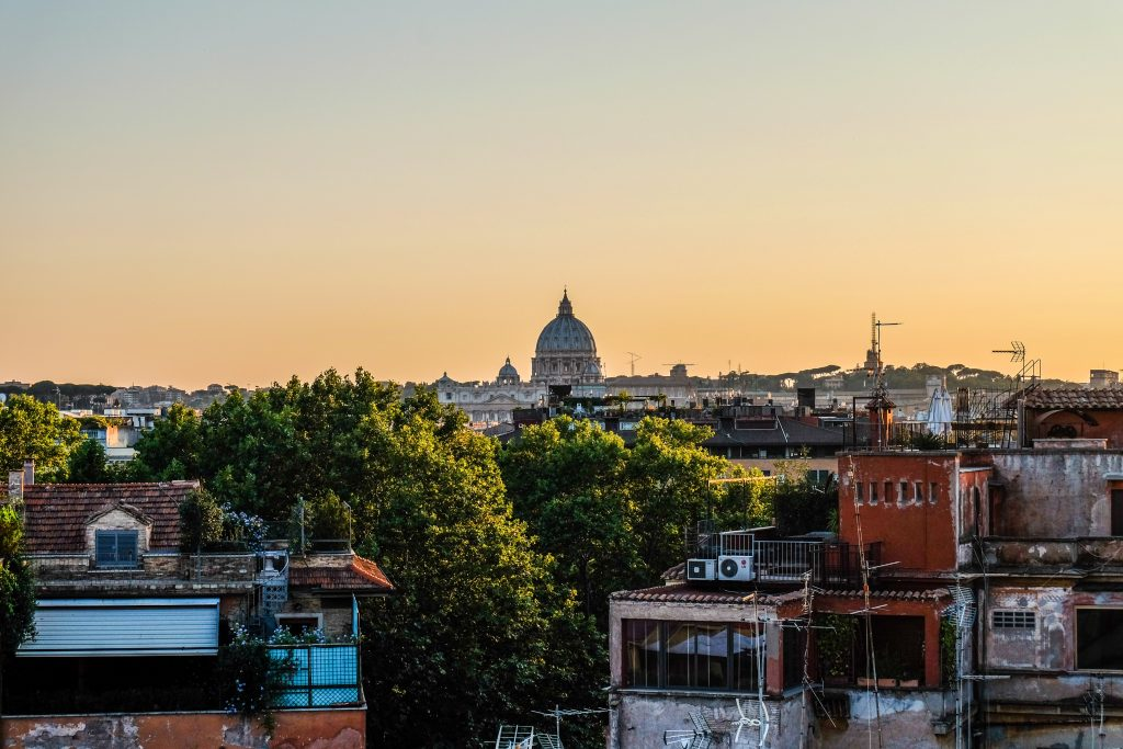 St Peters at sunset Rome