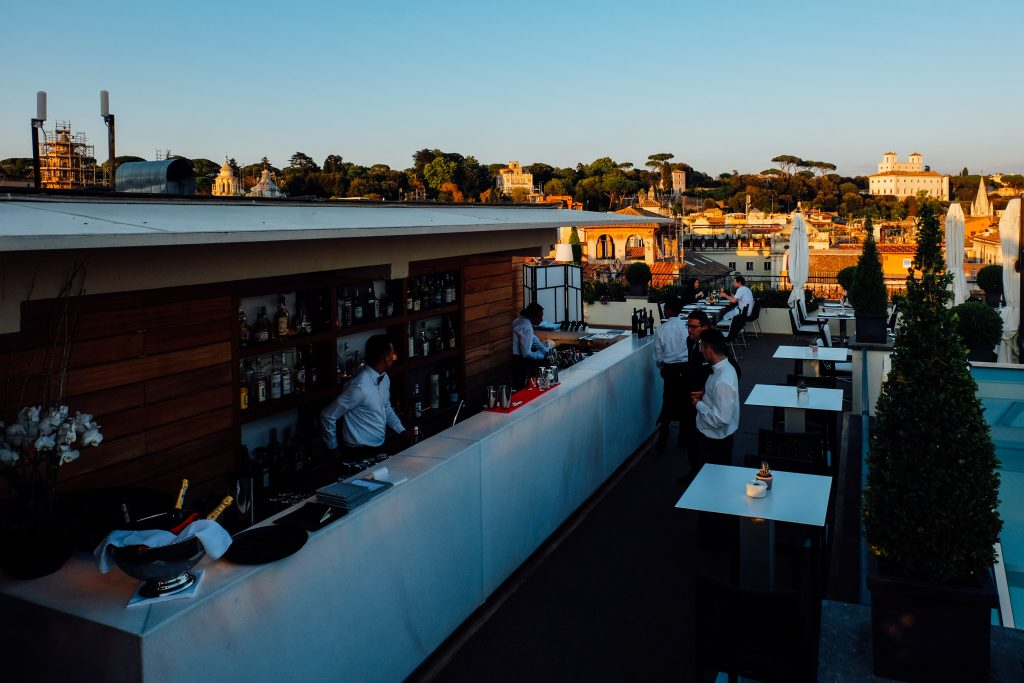 rooftop bar in Rome