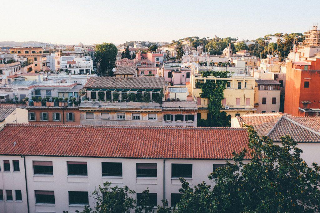 Roman rooftop views