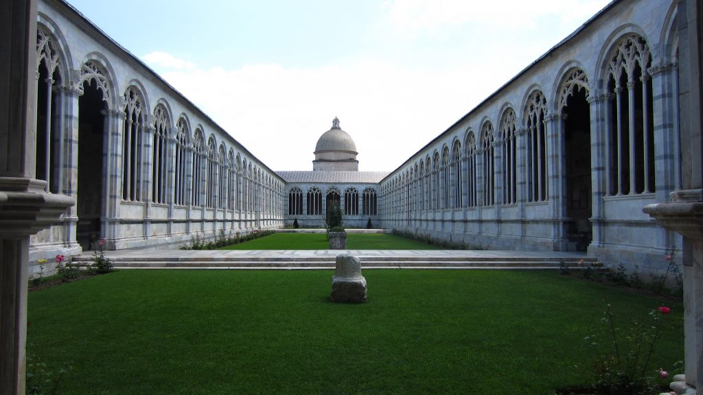Camposanto cemetery near Pisa Italy