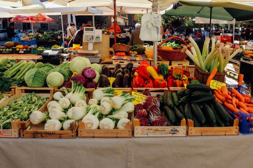 Fresh vegetables at Italian market