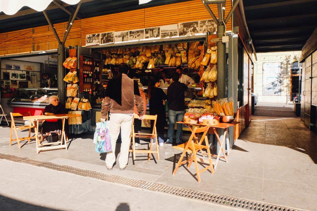 San cosimato covered market