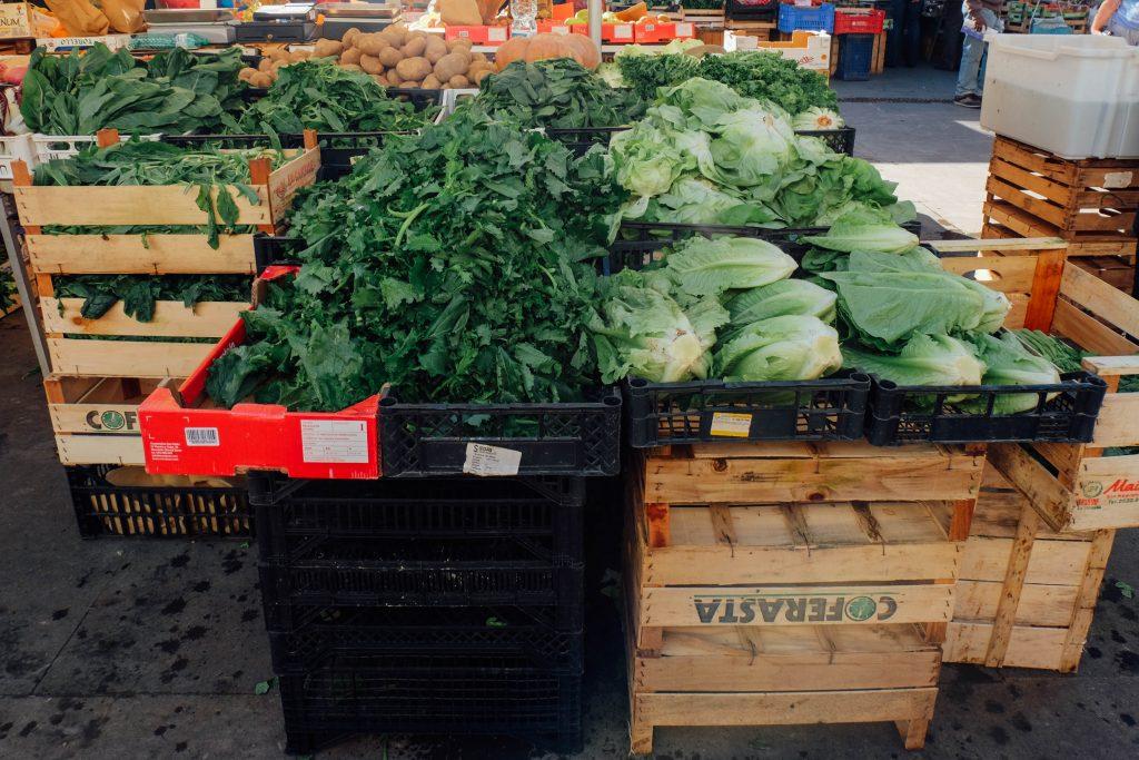 Italian farmers market in Rome