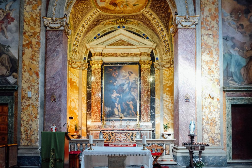Altar of Roman church