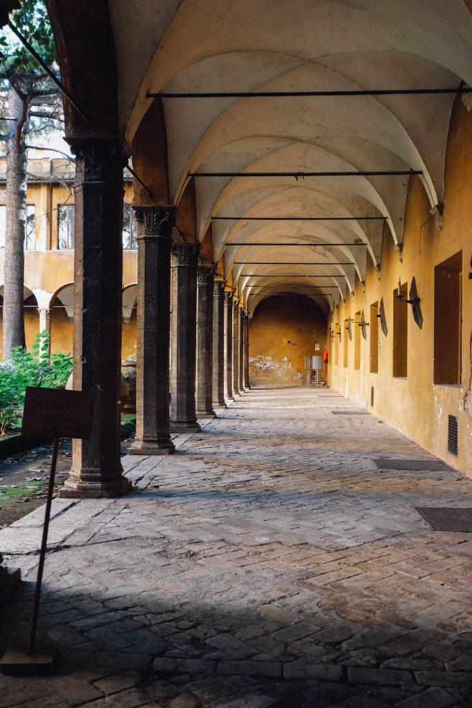 porticoes in Trastevere Rome