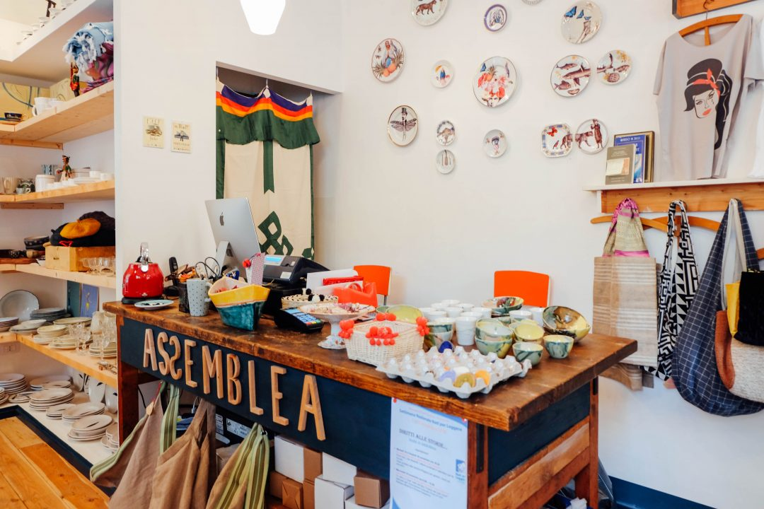 Assembled store in Testaccio selling all artisan products