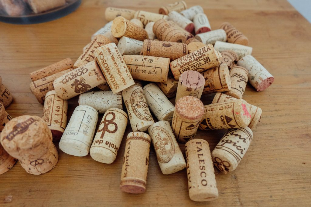 Saved wine corks