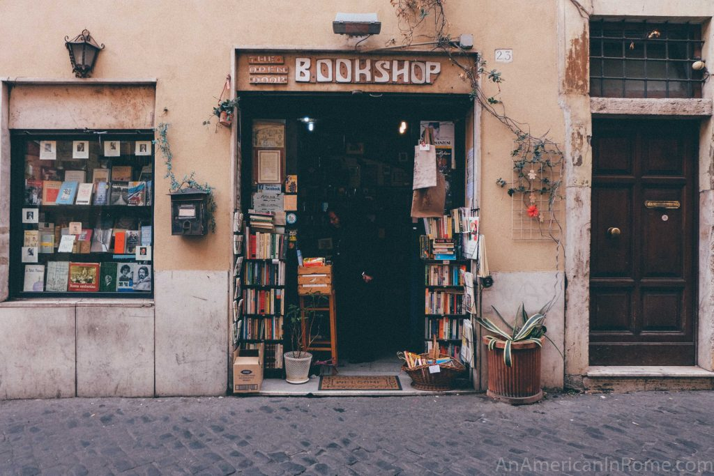 Rome used book store