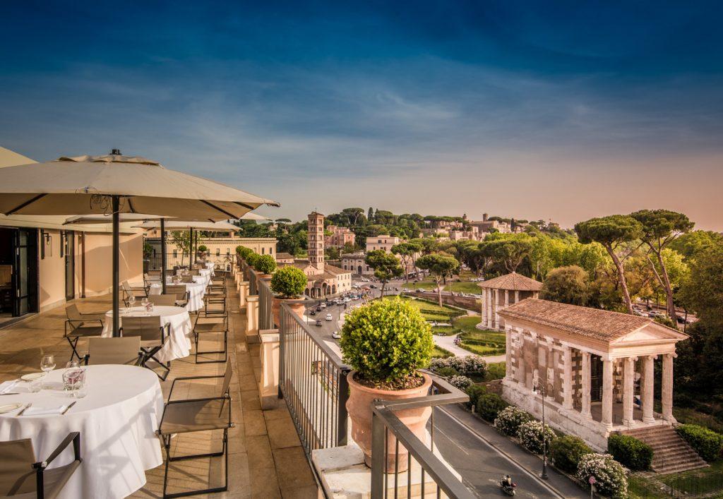 Rome rooftop bar near circus maximus