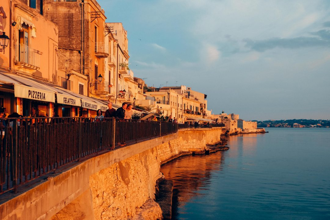 sunset golden hour on ortigia has inspired quotes about sicily