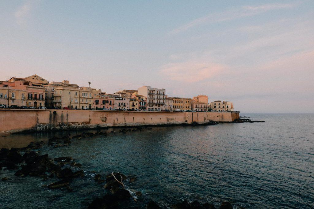 Ortigia Sicily at sunset