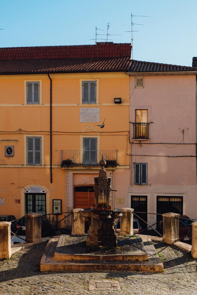 a view of the town center in Palestrina Italy near Rome