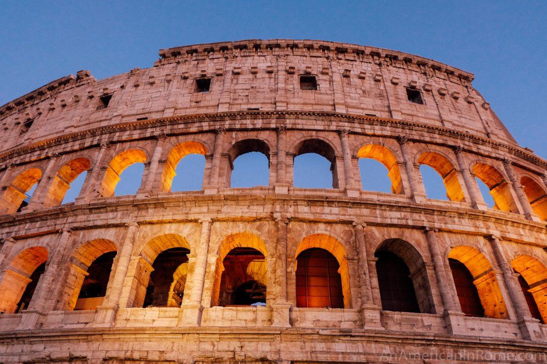 Rome's Colosseum at dusk
