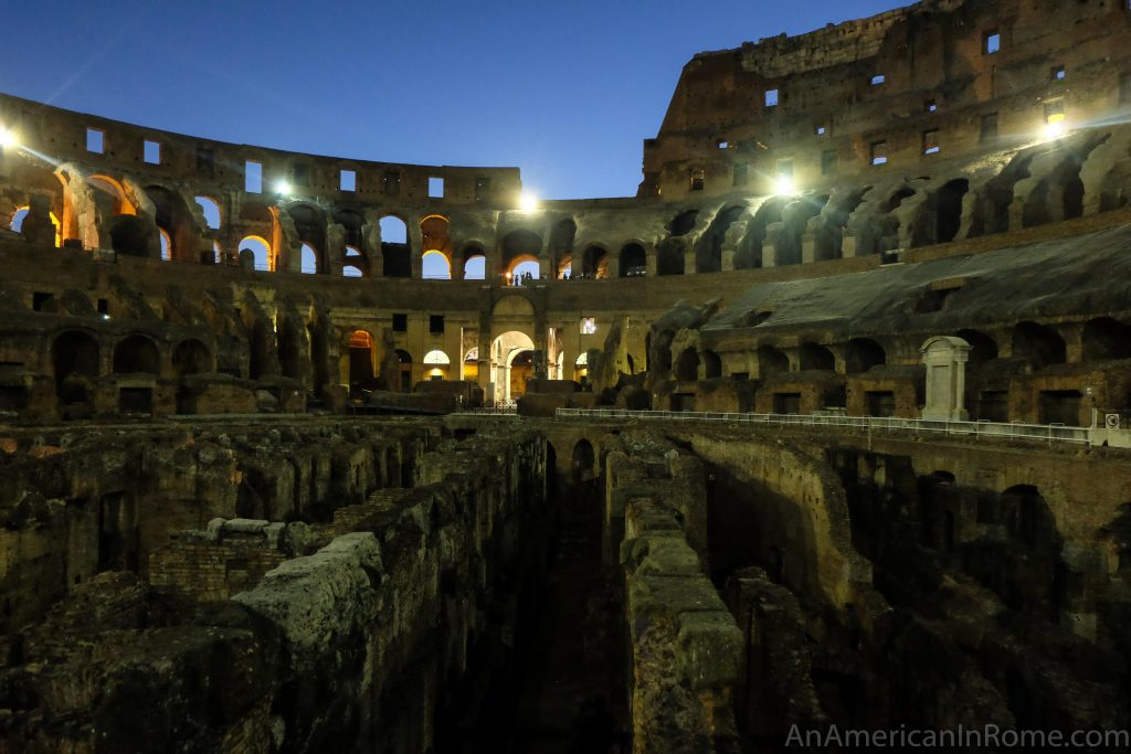 Colosseum Underground Tour At Night
