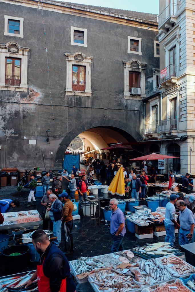 Catania Fish Market in Sicily