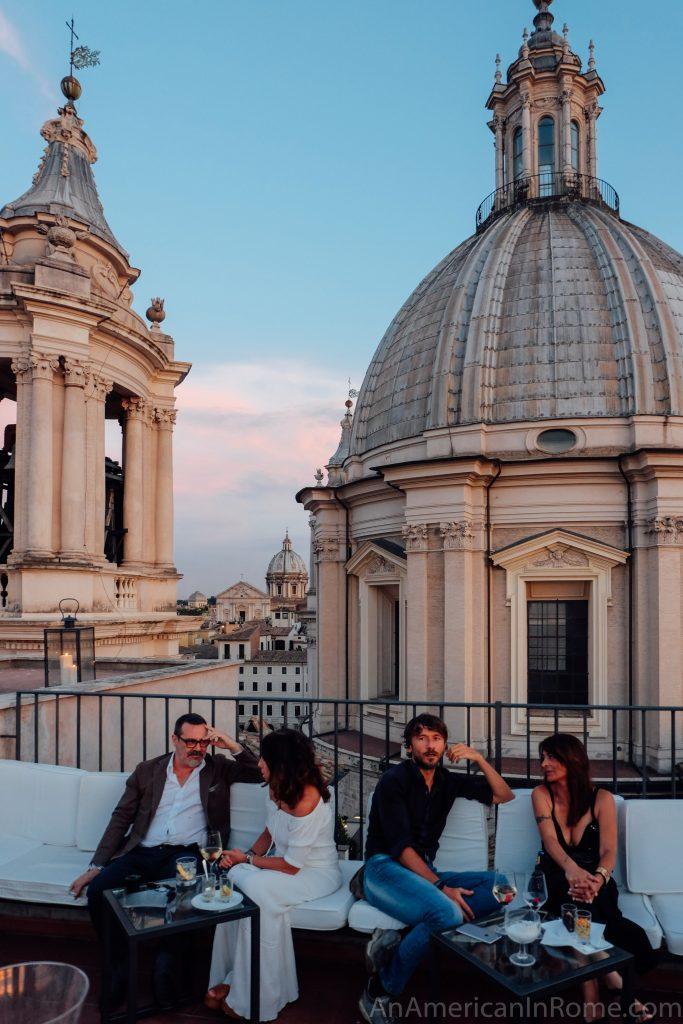 Rome rooftop bar at Eitch Borromini Hotel