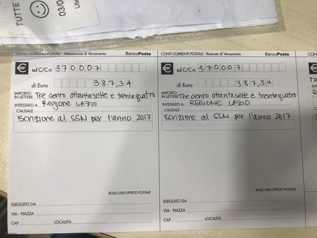 when you arrive at the post office you will fill out all this information in triplicate save the receipt because you will need it in order to formally
