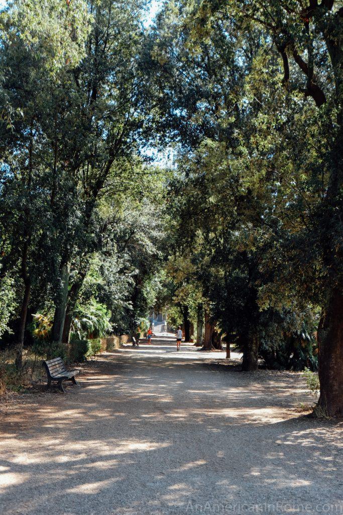 trail in villa pamphili