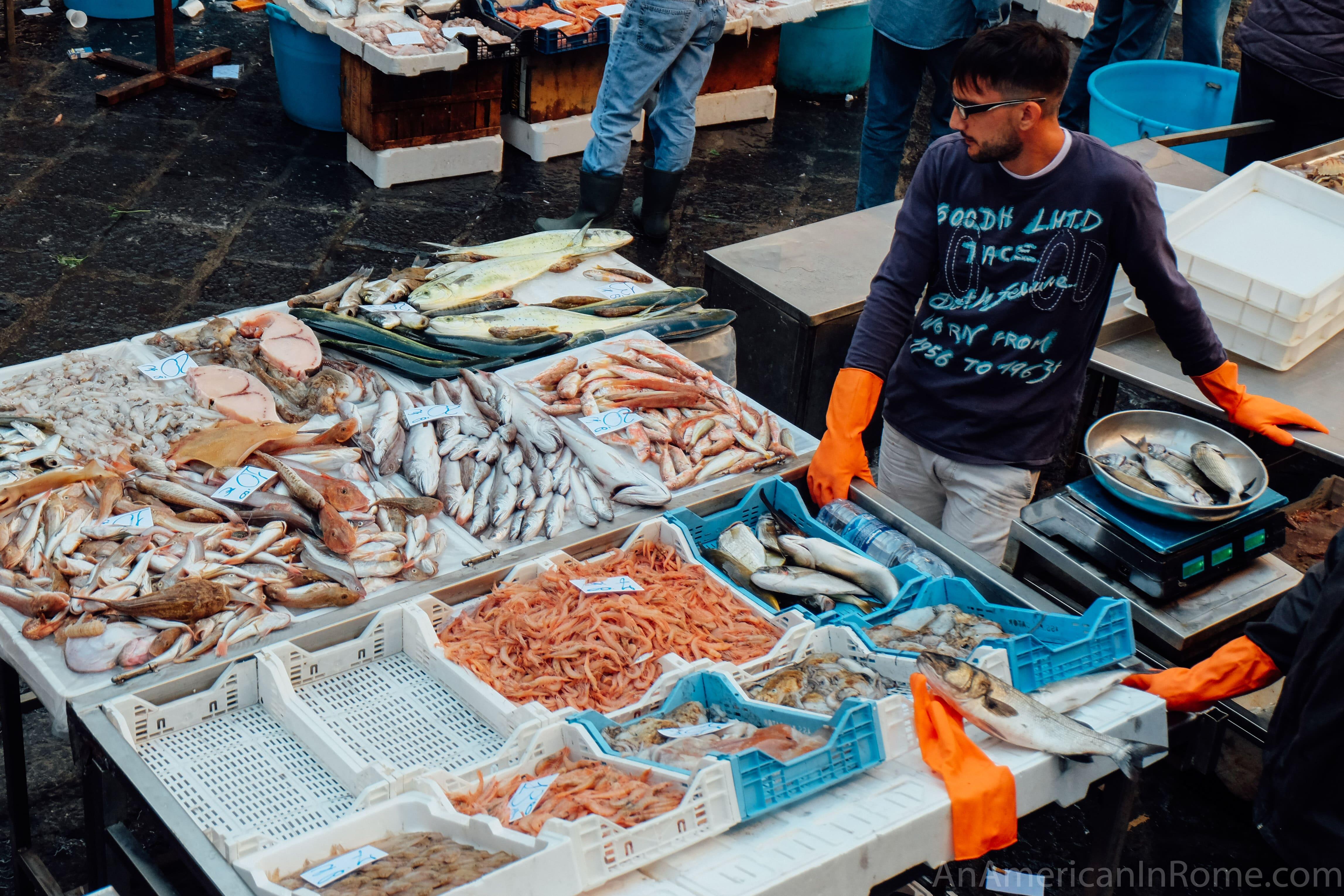 Catania fish market la pescheria in catania an for Fish market cincinnati