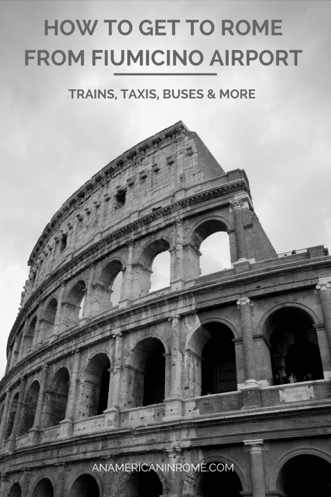 How To Get From The Airport Into Rome