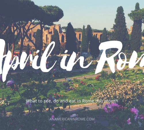 April 2018 Events in Rome