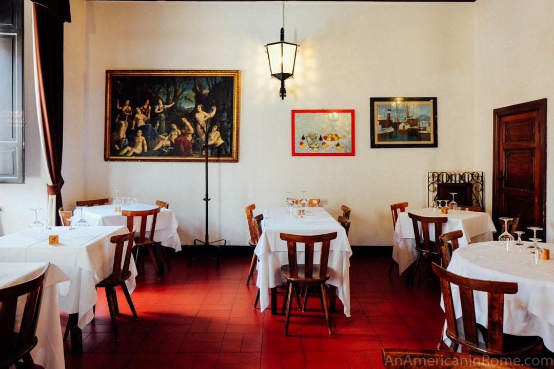 Al Pompiere Restaurant in Rome