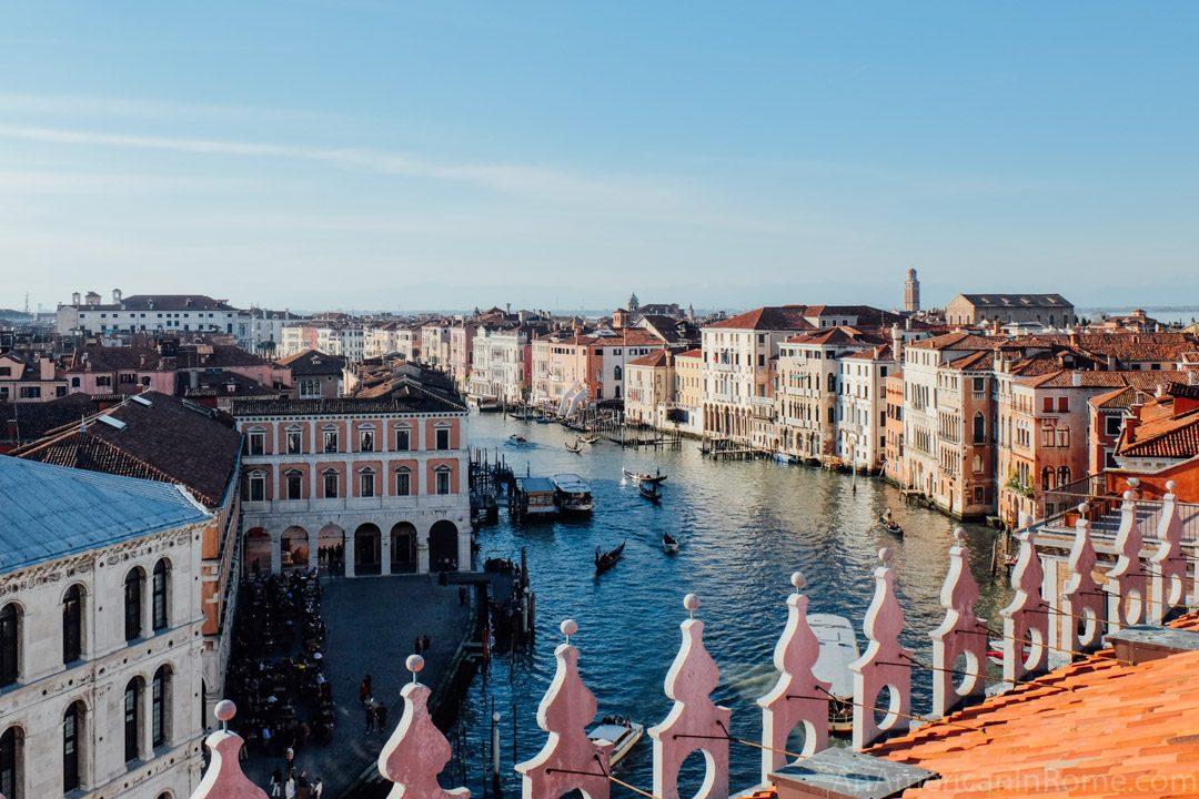 Fondaco dei Tedeschi rooftop terrace in Venice